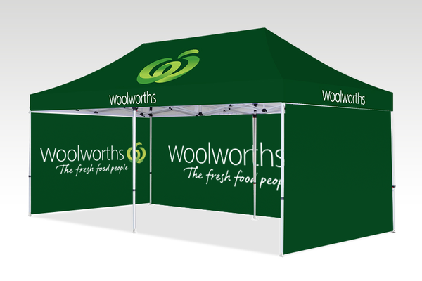 6000mm x 3000mm Pop-up Gazebo with Single side (Displayed inside) & Double Sided Back