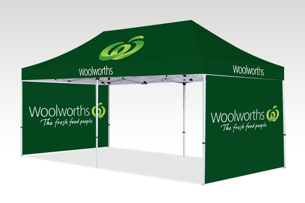 6000mm x 3000mm Pop-up Gazebo with Double Sided Sides & No back wall
