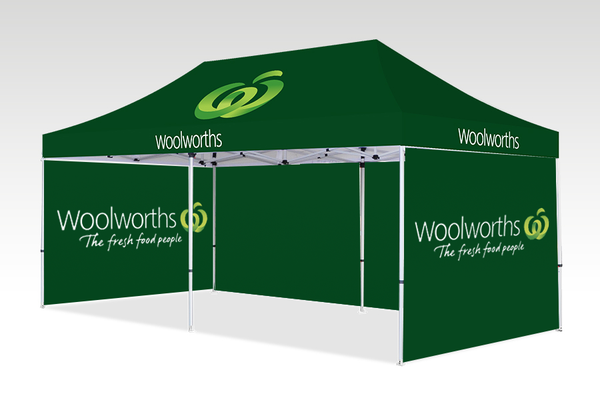 6000mm x 3000mm Pop-up Gazebo with Double Sided Sides & Single back (Displayed Outside)