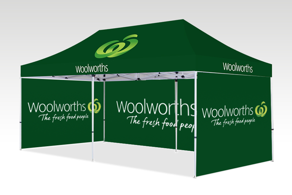 6000mm x 3000mm Pop-up Gazebo with Double Sided Sides & Single back (Displayed inside)
