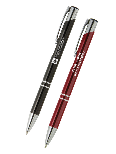 Metal Pen with Text & Logo