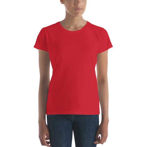 Ladies Ringspun Fashion Fit T-Shirt with Tear Away Label