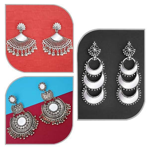 Tip top Fashions Set of 3 Earrings Pack- 1004058