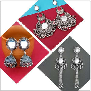 Tip top Fashions Set of 3 Earrings Pack- 1004060