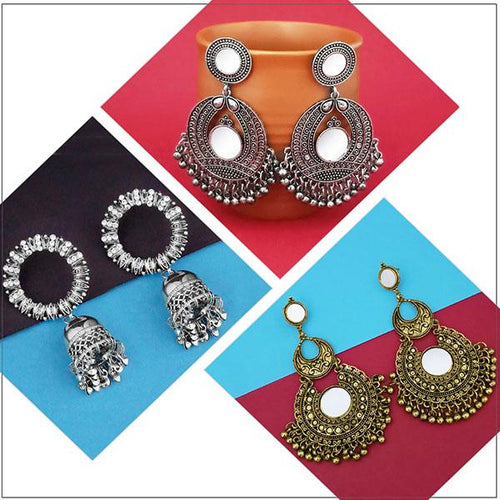 Tip top Fashions Set of 3 Earrings Pack- 1004072