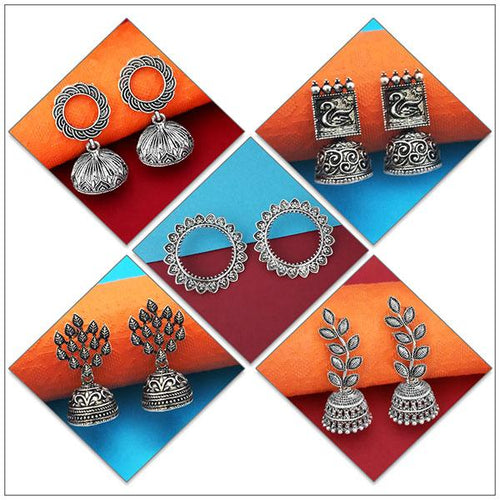 Tip top Fashions Set of 5 Earrings Pack - 1004073
