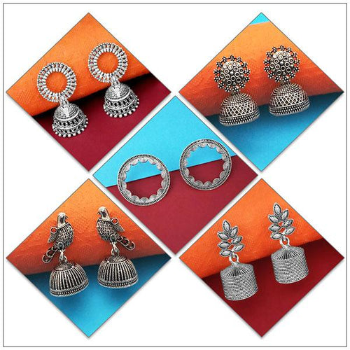 Tip top Fashions Set of 5 Earrings Pack- 1004077