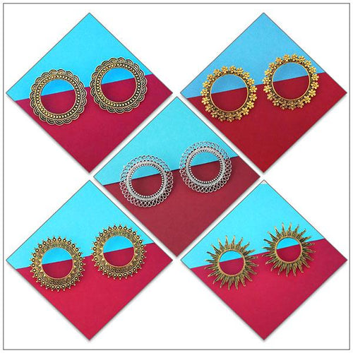 Tip top Fashions Set of 5 Earrings Pack - 1004085