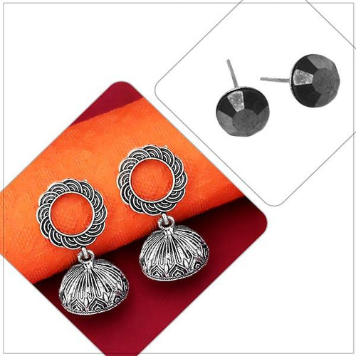 Tip top Fashions Set of 2 Earrings Combo - 1004090
