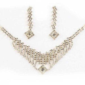 Tiptop Fashions  Austrian Stone Silver Plated Necklace Set  -  Imitation Jewellery - 1101220 - 11012