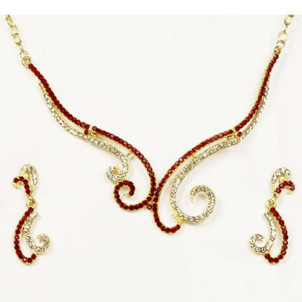 Tiptop Fashions Austrian Stone  Necklace Set  -   1101315