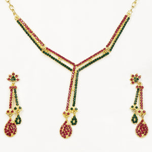 Tiptop Fashions  Gold Plated Austrian Stone Necklace Set - Tiptop Fashions