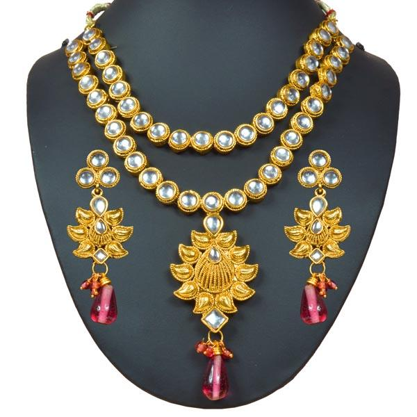 Tiptop Fashions  Kundan Gold Plated Designer Necklace Set - Tiptop Fashions