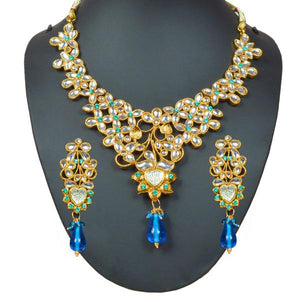 Tiptop Fashions  Austrian Stone Kundan Gold Plated Necklace Set - Tiptop Fashions