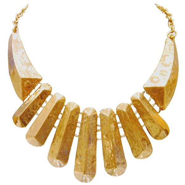 Tiptop Fashions  Golden Statement Necklace  -  Imitation Jewellery - 1102563 - 11025