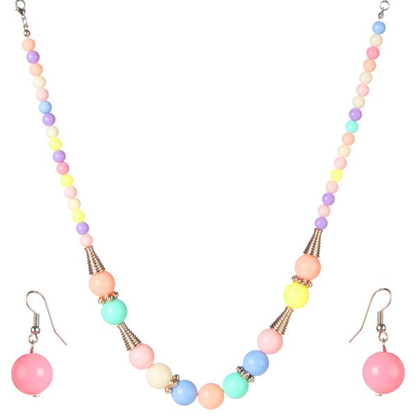 Tiptop Fashions  Multicolor Beads Necklace Set  -  Imitation Jewellery - 1102574 - 11025