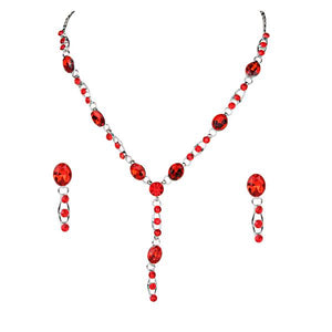 Tiptop Fashions  Austrian Stone Rhodium Plated Necklace Set - Tiptop Fashions