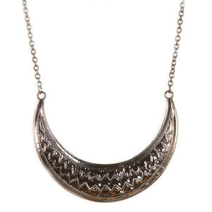Tiptop Fashions  Rhodium Plated Statement Necklace  -  Imitation Jewellery - 1103008 - 11030