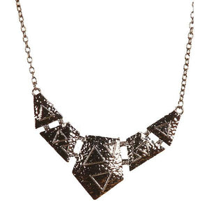 Tiptop Fashions  Black Gold plated Stetment Necklace  -  Imitation Jewellery - 1103012 - 11030