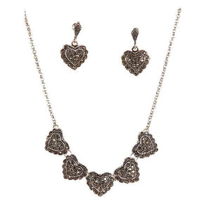 Tiptop Fashions  Heart Shape Pretty Necklace Set  -  Imitation Jewellery - 1103015 - 11030
