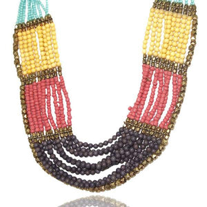 Tiptop Fashions  Multicolor Beads Necklace  -  Imitation Jewellery - 1103207 - 11032