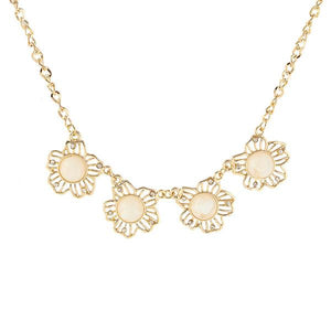 Tiptop Fashions Austrian Stone beads Cutwork Necklace  - 1103350