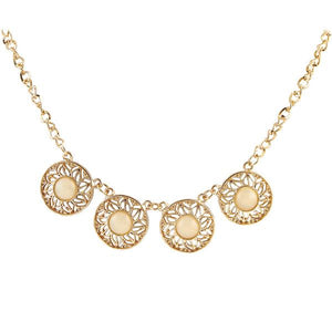 Tiptop Fashions  Beads Cutwork Gold Plated Necklace  -  Imitation Jewellery - 1103352 - 11033