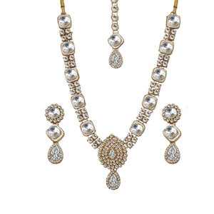 Tiptop Fashions  Charms Gold Plated Crystal Stone Necklace Set  -  Imitation Jewellery - 1103636 - 11036