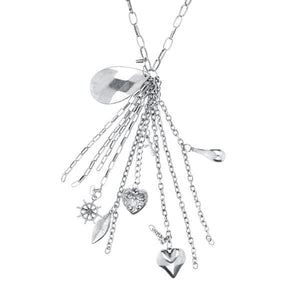 Tiptop Fashions  Rhodium Plated Necklace  -  Imitation Jewellery - 1104116 - 11041