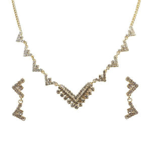 Tiptop Fashions Austrian Stone Necklace Set  -1104306