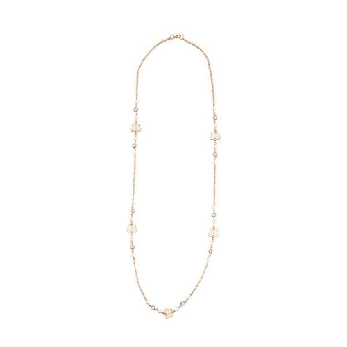 Tiptop Fashions  White Beads Gold Plated Fusion Necklace  -  Imitation Jewellery - 1107015 - 11070