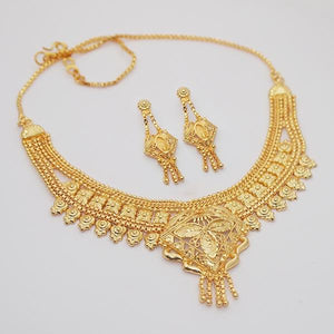 Tiptop Fashions Brass Forming Gold Plated Necklace Set - 1108105