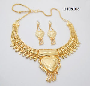 Tiptop Fashions  Brass Forming Gold Plated Necklace Set  -   1108108