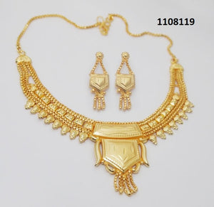 Tiptop Fashions  Brass Forming Gold Plated Necklace Set  -  Imitation Jewellery - 1108119 - 11081