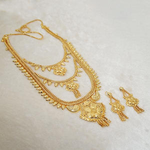 Tiptop Fashions Brass Forming Gold Plated Necklace Set - 1108126