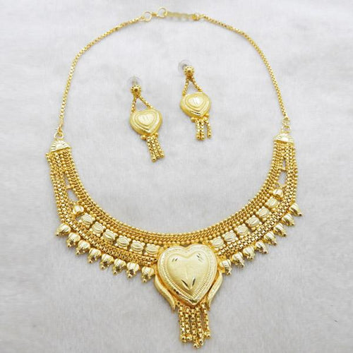 Tiptop Fashions  Brass Forming Gold Plated Necklace Set  -  Imitation Jewellery - 1108129 - 11081