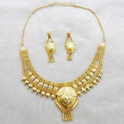 Tiptop Fashions  Brass Forming Gold Plated Necklace Set  -  Imitation Jewellery - 1108130 - 11081