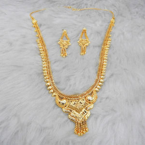 Tiptop Fashions  Brass Forming Gold Plated Necklace Set  -  Imitation Jewellery - 1108158 - 11081