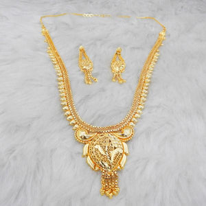 Tiptop Fashions  Brass Forming Gold Plated Necklace Set  -  Imitation Jewellery - 1108159 - 11081