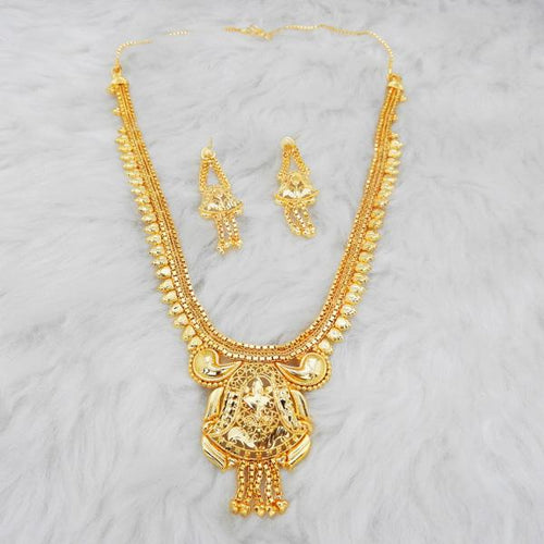 Tiptop Fashions  Brass Forming Gold Plated Necklace Set  -  Imitation Jewellery - 1108161 - 11081