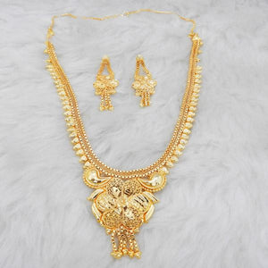 Tiptop Fashions  Brass Forming Gold Plated Necklace Set  -  Imitation Jewellery - 1108162 - 11081
