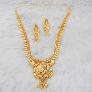 Tiptop Fashions  Brass Forming Gold Plated Necklace Set  -  Imitation Jewellery - 1108163 - 11081