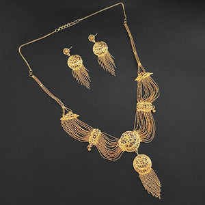 Tiptop Fashions Brass Forming Necklace Set - 1108183