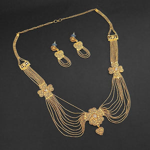 Tiptop Fashions Brass Forming Necklace Set - 1108184