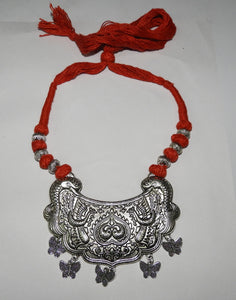 Tip Top Fashions Oxidised Plated Tribal Necklace Sets - 1110709