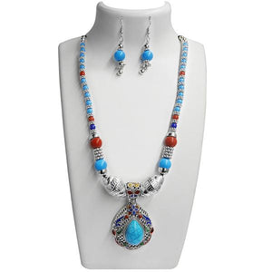 Tiptop Fashions Rhodium Plated Navratri Special Necklace Set - 1110817