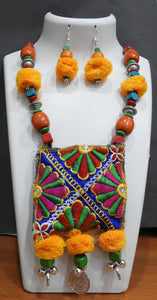 Tip Top Fashions Navratri Thread Necklace Set 1110979