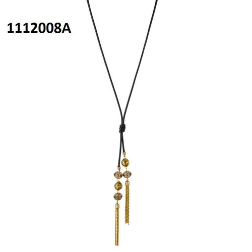 Tiptop Fashions  Gold Plated Stone Fusion Necklace  -  Imitation Jewellery - 1112008a - 11120