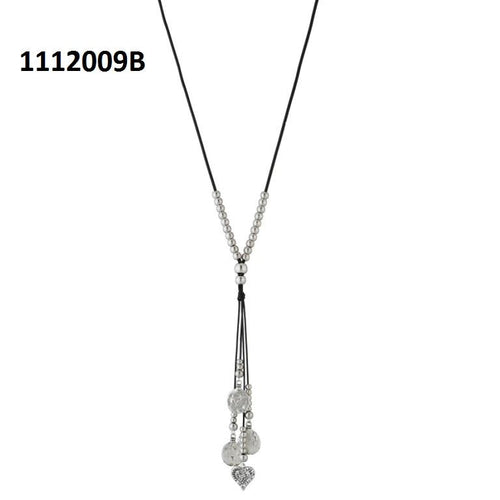 Tiptop Fashions  Silver Beads Fusion Necklace  -  Imitation Jewellery - 1112009b - 11120