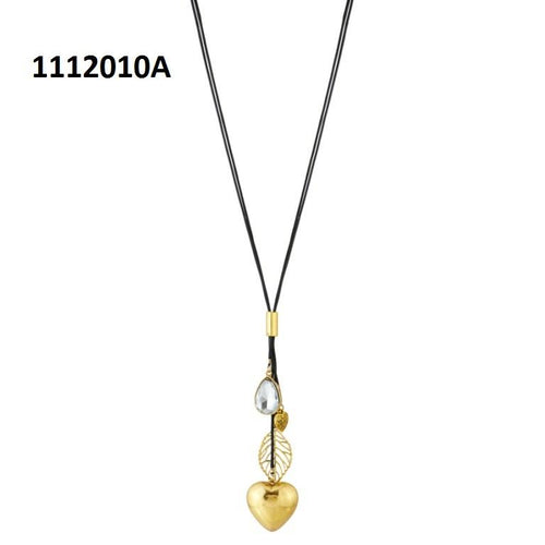 Tiptop Fashions  Gold Plated Stone Fusion Necklace  -  Imitation Jewellery - 1112010a - 11120